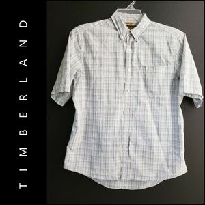 Timberland Men Button Front Shirt Size Large Gray